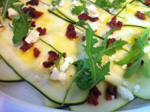 rauwe courgettesalade